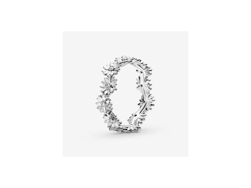 Anello a corona Margherita scintillante bianco