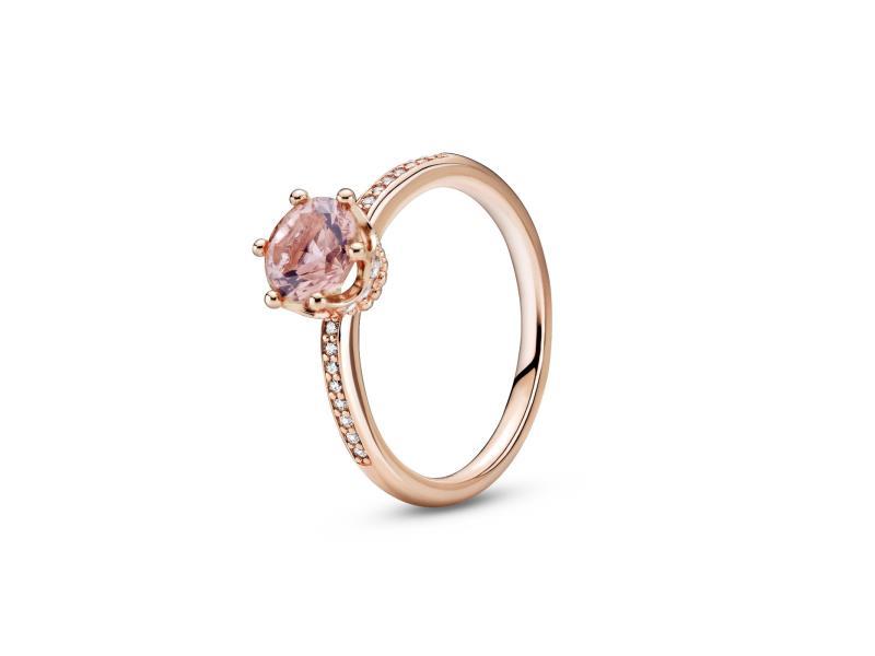 Anello con solitario Corona rosa scintillante € 79,00