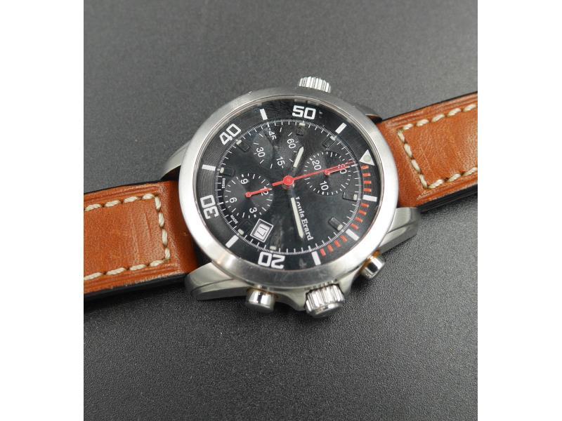 Cronografo over size in acciaio ref.77402